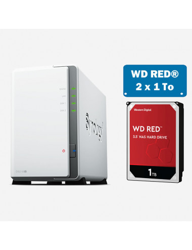 Synology DS218J NAS Server WD RED 2TB (2x1TB)
