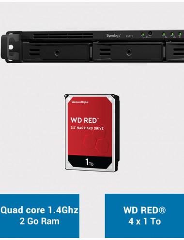 Synology RS819 Serveur NAS WD RED 4To (4x1To)