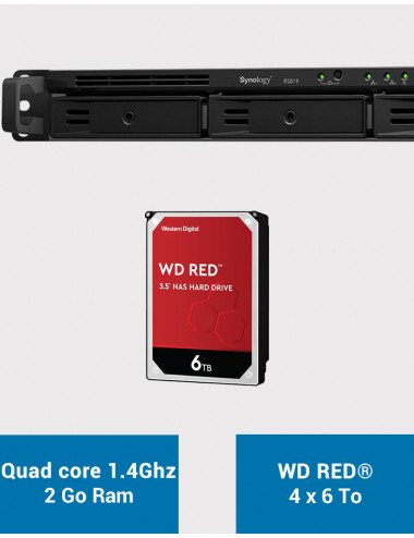Synology RS819 Serveur NAS WD RED 24 To (4x6To)