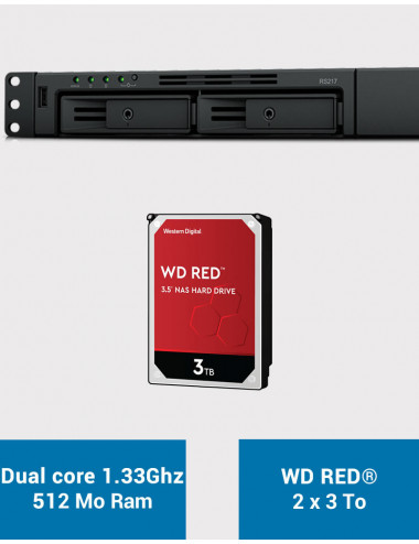 Synology RS217 Serveur NAS WD RED 6To (2x3To)