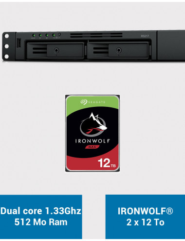 Synology RS217 Serveur NAS IRONWOLF 24To (2x12To)