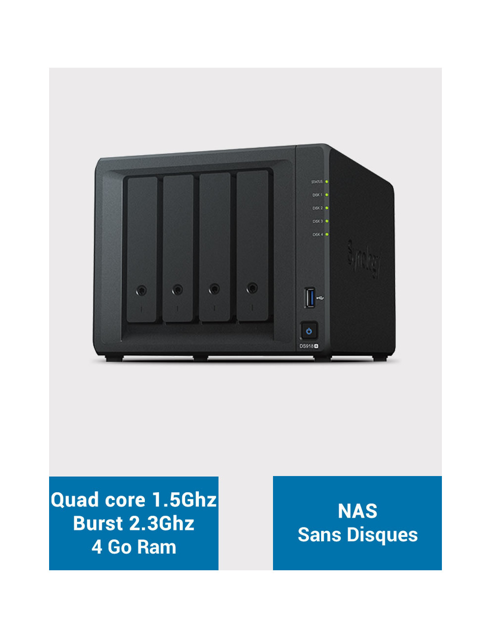 Synology DS918+ NAS Server (Diskless)