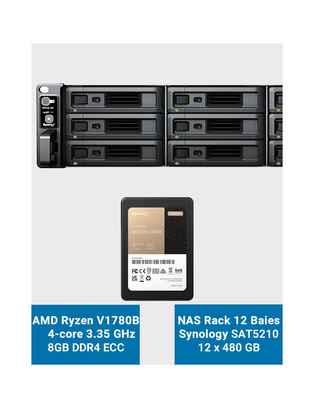 Synology DS218+ NAS Server IRONWOLF 2TB (2x1TB)