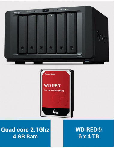 Synology DS1618+ Serveur NAS WD RED 24 To