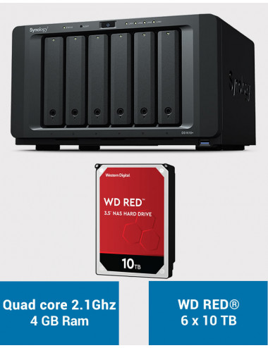 Synology DS1618+ Serveur NAS WD RED 60 To