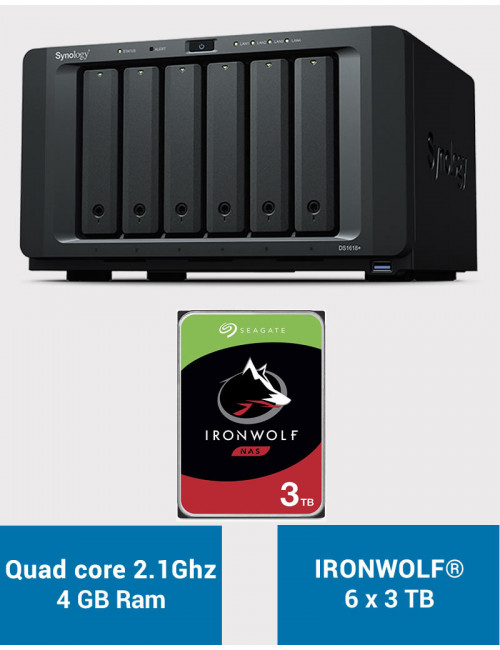 Synology DS1618+ Serveur NAS IRONWOLF 18 To