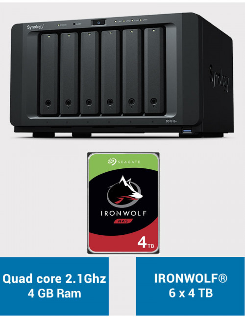 Synology DS1618+ Serveur NAS IRONWOLF 24 To