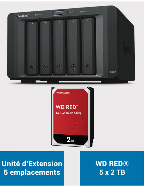 Synology DX517 Unité d'extension WD RED 10To (5x2To)