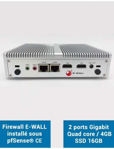 Firewall E-WALL EG2416S under pfSense® CE 2 ports 4GB SSD 16GB