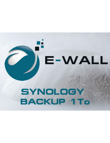 E-WALL SYNOLOGY Server NAS - Backup 1 TB - 1 year