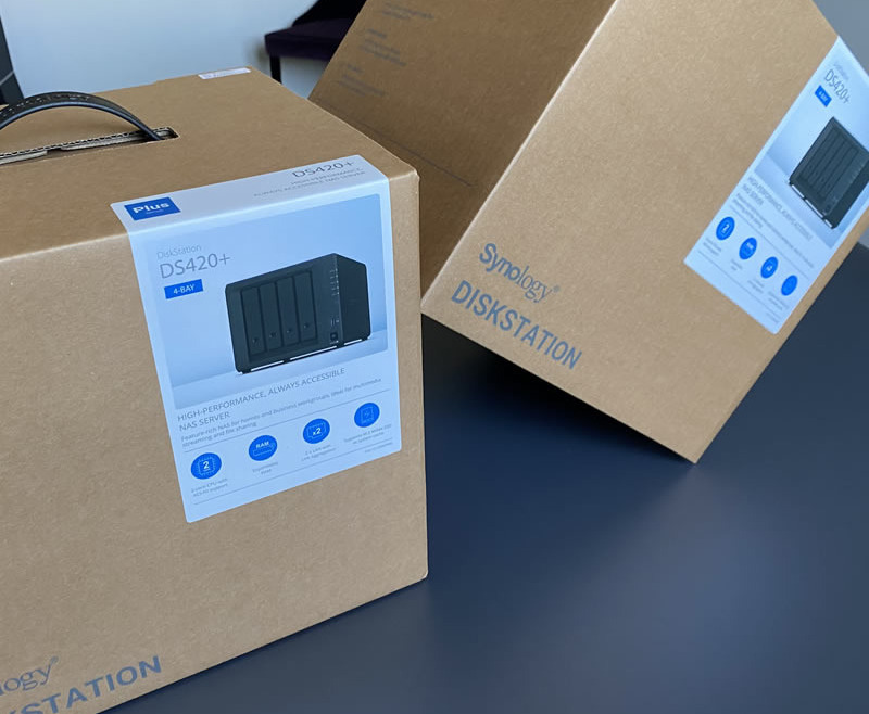The new SYNOLOGY DS420 + and DS720 + are in stock…